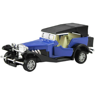 dealBindaas Metal Die Cast 132 Classic Old Antique Car Model Pull Back Action Opening Doors Dinky Car Toys Children Gift Collection Blue