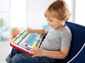 Fisher Price Think and Learn Alpha Slide writer for kids (kids can touch the letters and slide them to make word)
