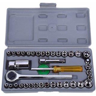 G-MTIN Universal Hand Tool Kit 40Pc Multi Purpose Combination Socket Wrench Set