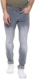 Urbano Fashion Men Grey Mid Rise Slim Fit Jeans