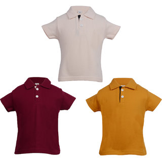 Gkidz Infants Pack of 3 Multi color Polo T-shirts