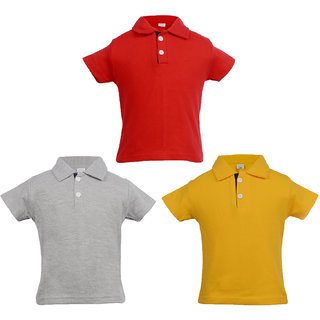 2e5abf291fdd Buy Gkidz Infants Pack of 3 Multi color Polo T-shirts Online - Get 50% Off