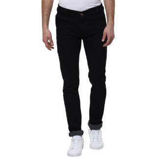 Urbano Fashion Men's Stretchable Slim Fit Black Jeans