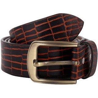 Exotique Men's Black Casual Leather Belt (BM0055BK)