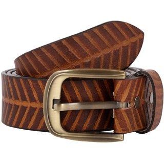 Exotique Men's Brown Casual Leather Belt (BM0053BR)