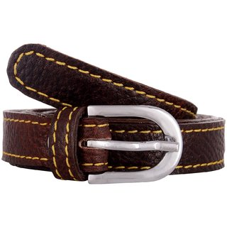 Exotique Womens Red Casual Leather Belt (BW0013RD)