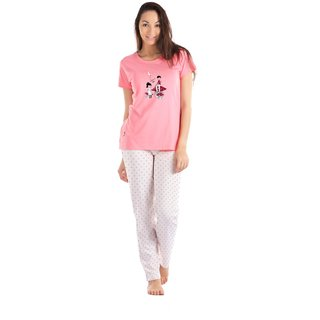 Lenissa Presents Women's Cotton nightsuits Superior  Comfortable Pyjama Set with Pink Autom Print
