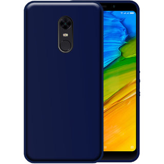 Hupshy Redmi Note 5 Cover / Redmi Note 5 Back Cover / Redmi Note 5 Plain Case  Cover / Soft TPU Cover For Redmi Note 5 - Blue