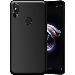 Hupshy Redmi Note 5 Pro Cover / Redmi Note 5 Pro Back Cover / Redmi Note 5 Pro Plain Case  Cover / Soft TPU Cover For Redmi Note 5 Pro - Black