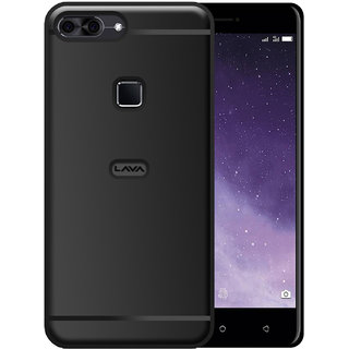 Hupshy Lava Z90 Cover / Lava Z90 Back Cover / Lava Z90 Plain Case  Cover / Soft TPU Cover For Lava Z90 - Black
