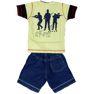 boys tshirt and denim shorts set