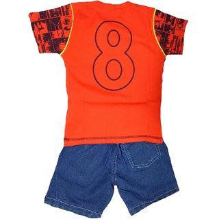 boys tshirt and denim shorts set
