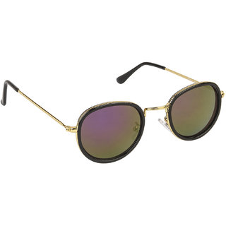 Arzonai Hayes MA-098-S4 Round Women Only Purple Sunglasses