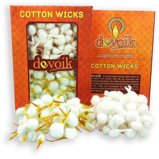 Devoik Handmade Cotton Wicks White and Yellow - 251 Wicks
