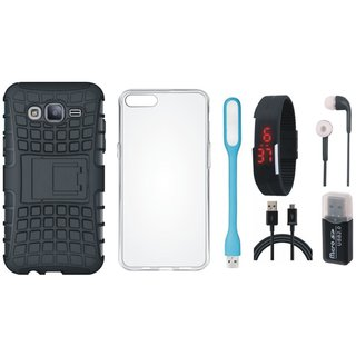 Redmi Y1 Lite Cover with Memory Card Reader, Silicon Back Cover, Digital Watch, Earphones, USB LED Light and USB Cable