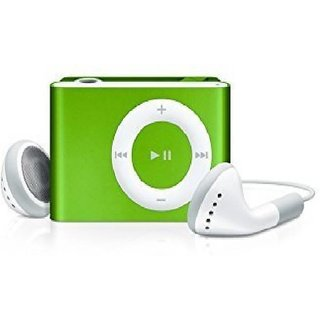 Others Erry Mini MP3 Shuffle Metal Series MP3 PLAYER With Ear Phones and Data Cable MP3 Player  (Green)