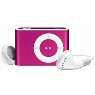 Others Erry Mini MP3 Shuffle Metal Series MP3 PLAYER With Ear Phones and Data Cable MP3 Player  (Pink)
