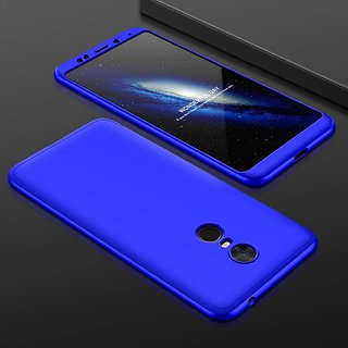 Redmi Note 5 Blue Colour 360 Degree Full Body Protection Front Back Case Cover Standard Quality