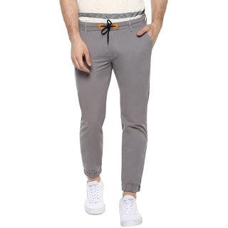 Urbano Fashion Men's Grey Slim Fit Stretch Casual Chino Joggers