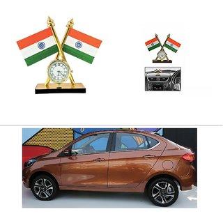 AutoStark Car Dashboard Indian Flag With Clock For TATA Tigor