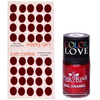 Pink Root Nail Polish No. 01 (15ml) Lady Fashion Mahroon No. 10 Bindi