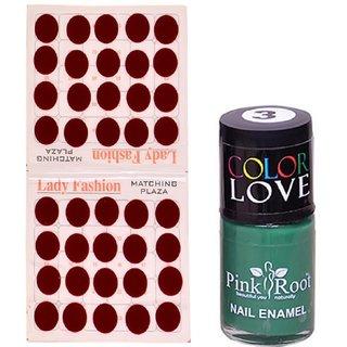Pink Root Nail Polish No. 03 (15ml) Lady Fashion Mahroon No. 10 Bindi