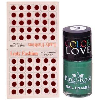 Pink Root Nail Polish No. 03 (15ml) Lady Fashion Mahroon No. 11 Bindi