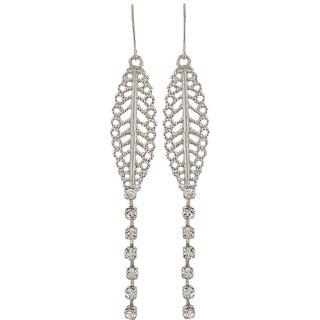 Maayra Filigree Earrings Silver Dangler Drop College Fashion Earrings