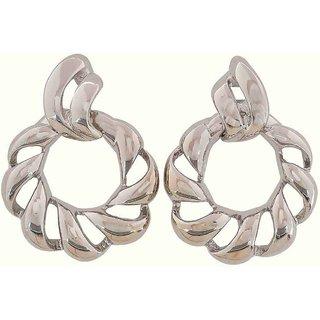 Maayra Designer Earrings Silver Dangler Drop College Fashion Earrings