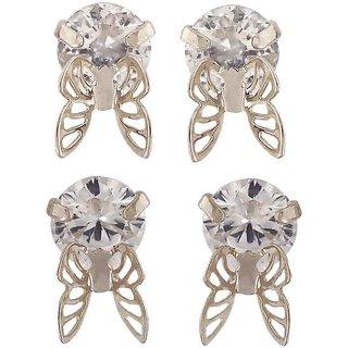 ba79187b1 Maayra Butterflies Earrings Combo Silver Ear Studs Office Casualwear  Earrings