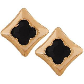 Maayra Contemporary Earrings Black Ear Studs Office Casualwear Earrings