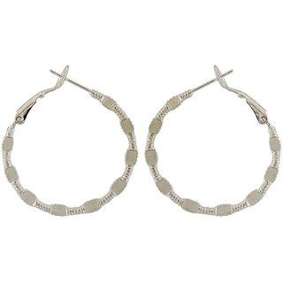 f8f3b77fe Buy Maayra Contemporary Earrings Silver Hoops Office Casualwear Earrings  Online - Get 27% Off