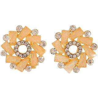 Maayra Designer Earrings Peach Ear Studs Office Casualwear Earrings