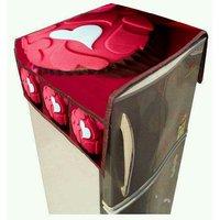 Khushi Creation  designer 3d digital printed jute fabric refrigerator cover (with 3 pockets on both side )