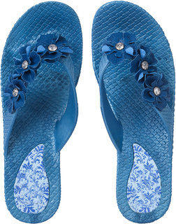 CZAR Flip Flops Slipper for RO-03 Blue Women