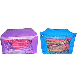 ADWITIYA Set of 2 Pcs Plain 10 inch Large Nonwoven Saree Salwar Suit Shirt Jeans Bedsheet Garment Cloth Cover Case