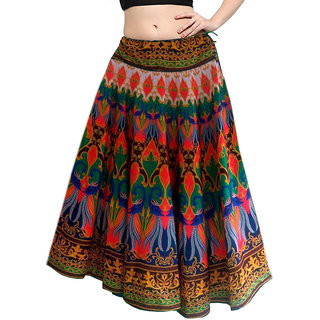 e9b87c399a3 Buy Mira Creation Benglory Satin Multi Color Semi Stitched Designer Skirts  For Girls Womens (Size Free) Online - Get 77% Off