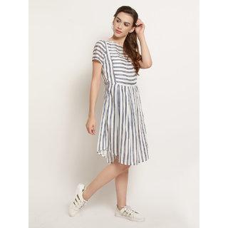 Abiti Bella Multi Color Striped Sheath Dress