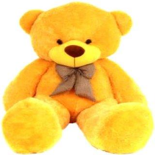 Multi Soft Fabric India Kids Teddy Bear Sitting Stuffed Soft Plush Toy (3 feet Yellow)