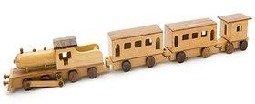 BuzyKart Beautiful Wooden Jumbo Train Miniature Toy Cum Showpiece