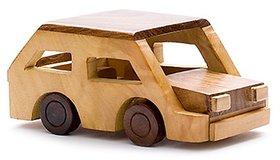 BuzyKart Beautiful Wooden Classical Vintage Miniature Car Toy Cum Showpiece