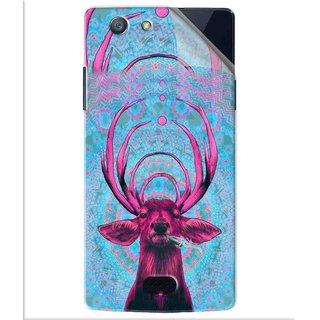 Snooky Printed acid deer Pvc Vinyl Mobile Skin Sticker For Oppo Neo 5