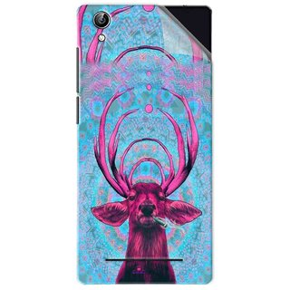Snooky Printed acid deer Pvc Vinyl Mobile Skin Sticker For Vivo Y51L