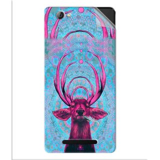 Snooky Printed acid deer Pvc Vinyl Mobile Skin Sticker For Lava A71