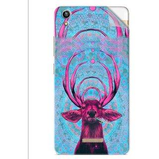 Snooky Printed acid deer Pvc Vinyl Mobile Skin Sticker For Lava V1 Pixel