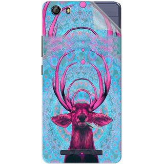Snooky Printed acid deer Pvc Vinyl Mobile Skin Sticker For Gionee Marathon M5
