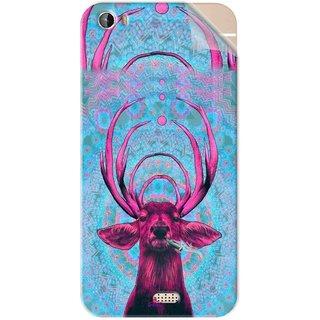 Snooky Printed acid deer Pvc Vinyl Mobile Skin Sticker For Intex Aqua Turbo 4G