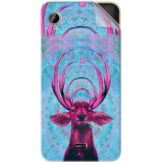 Snooky Printed acid deer Pvc Vinyl Mobile Skin Sticker For Intex Cloud 4G Smart