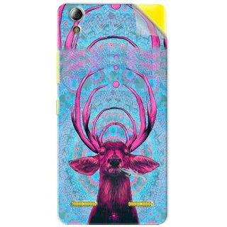 Snooky Printed acid deer Pvc Vinyl Mobile Skin Sticker For Lenovo A6000 Plus