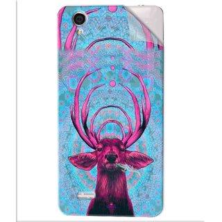 Snooky Printed acid deer Pvc Vinyl Mobile Skin Sticker For Vivo Y31